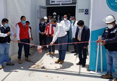 Presidente Vizcarra puso en marcha ambiente de hospitalización covid-19 en Sicuani