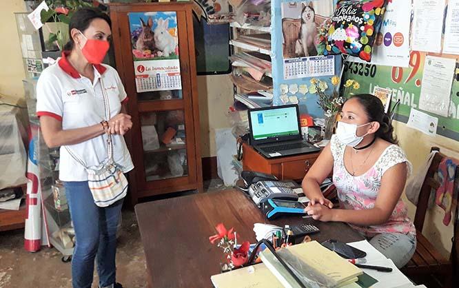 Ministra Donayre supervisó de manera virtual y presencial desde la región San Martín el inicio del proceso de pago de la nueva versión del Bono Familiar Universal