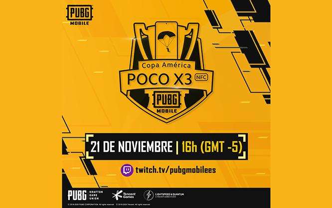 PUBG MOBILE realizará Copa América PocoX3 en colaboración con Twitch y Xiaomi