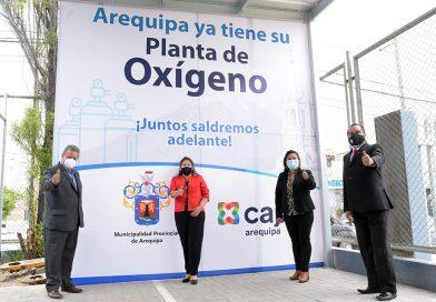 Caja Arequipa entrega ampliación de planta de oxigeno